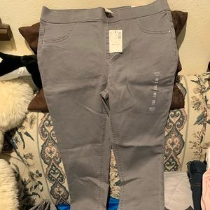Girls justice grey pull on jean